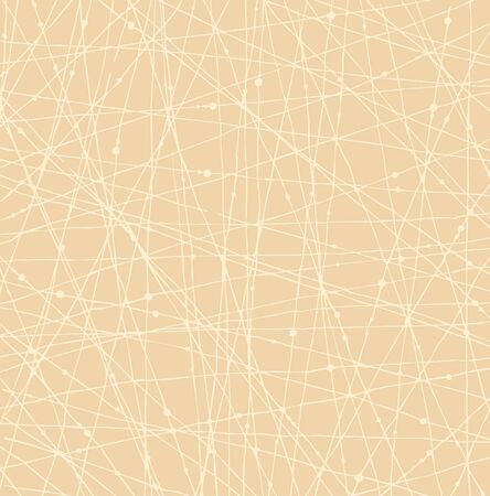 Beige background with scratches  Light linear network texture with threades and dots Stock Vector - 17333323