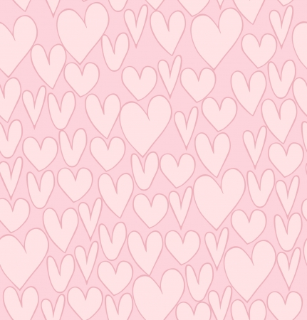 Seamless abstract love pattern. Beautiful backdrop with hand drawn hearts. Fabric cute texture Stock Vector - 17329817