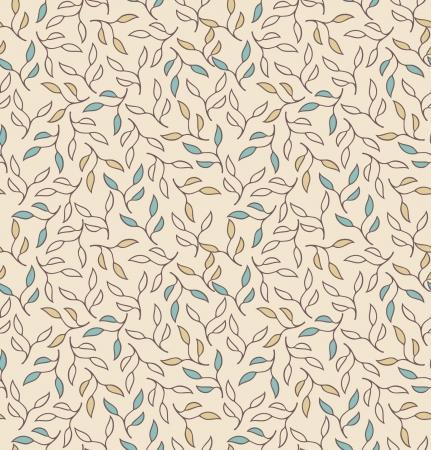 Takken naadloze patroon Bloemen stijlvolle achtergrond met bladeren Textuur voor textiel, behang, ambachten, prenten, pakketten