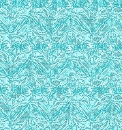 papel tapiz turquesa: Plantilla de diseño abstracto sin fisuras hermosa con textura de fondo de compensación con corazones de color turquesa