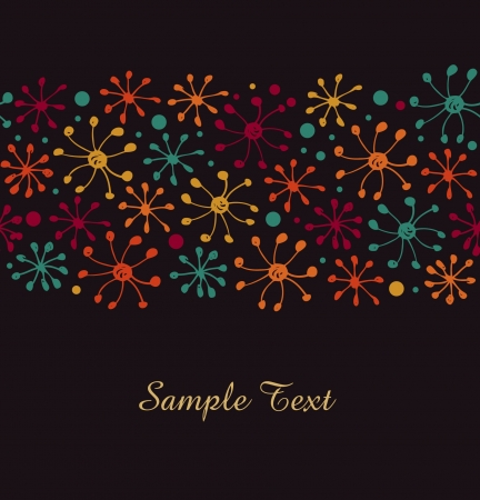 Colorful border with snowflakes  Decorative floral ribbon  Cute elements for decoration, design, scrapbooking, packages Vector