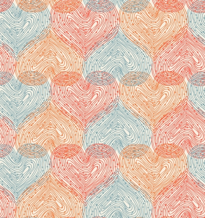 netting: Cute design template with seamless abstract texture. Hearts netting background