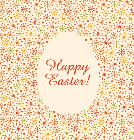 Easter banner. Egg template for design and decoration