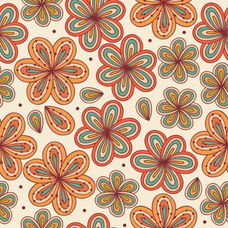 Floral ornamental seamless pattern  Decorative flowers background  Endless doodle texture for prints, crafts, textile  Abstract cute template for design Vector