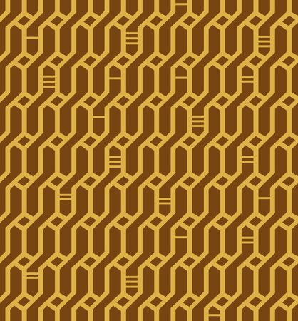 Linear seamless geometric pattern  Decorative network background  Wickerwork  Stylish oriental endless texture for crafts, textile, wallpapers Stock Vector - 17933354
