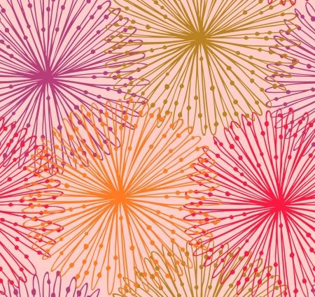 Kleurrijke naadloze radiale patroon Leuke netten abstracte achtergrond Sunny grafische achtergrond met decoratieve cirkels
