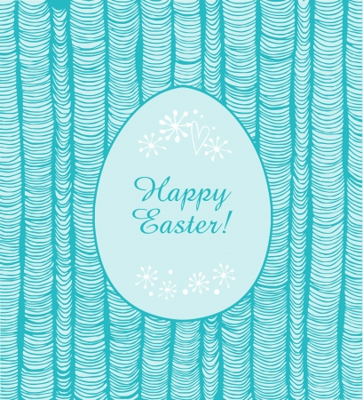pleat: Easter banner with turquoise vertical folders  Frame of egg for design and holiday decoration