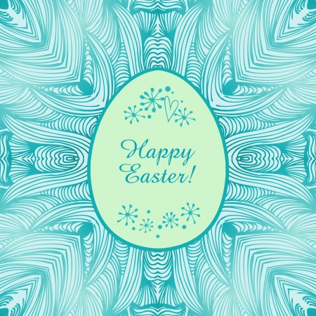 Glossy ornamental lace banner, easter background  Easter original card  Frame of egg for design and holiday decoration