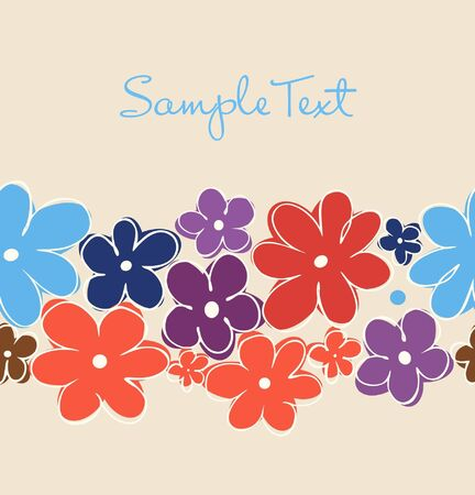 Vintage floral banner  Can be used for packaging, invitations cards, Decorative elements for bags, packets, cups Illustration
