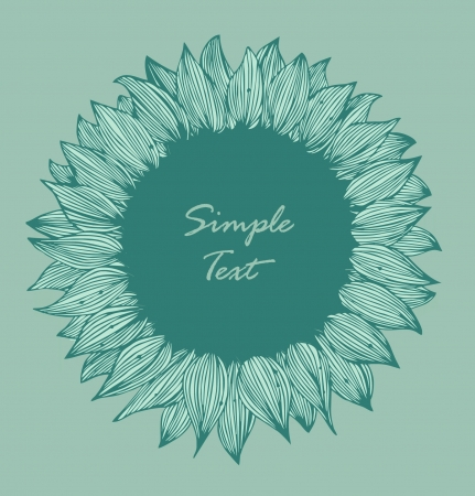 Green round flower text banner  Background for holidays, arts, crafts, cards, scrapbooks, setting table Illustration
