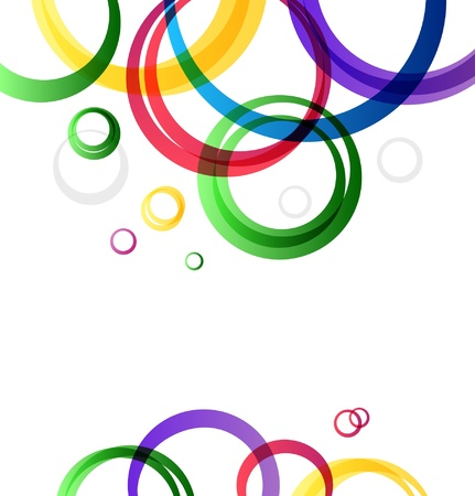 Multicolor rings  Vector