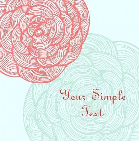 romanticism: Rose linear flowers  Floral banner
