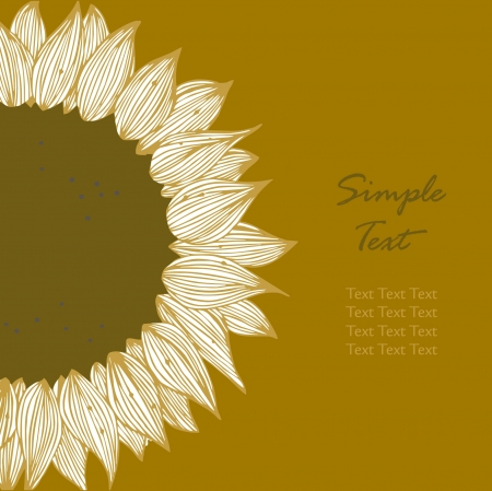 cake decorating: Sunflower text banner. Background for holidays, sewing, arts, crafts, cards, scrapbooks, covers, cake decorating