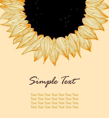 semillas de girasol: Sunflower banner de texto vertical. Fondo para las vacaciones, costura, artes, artesan�as, tarjetas, �lbumes de recortes, cubre