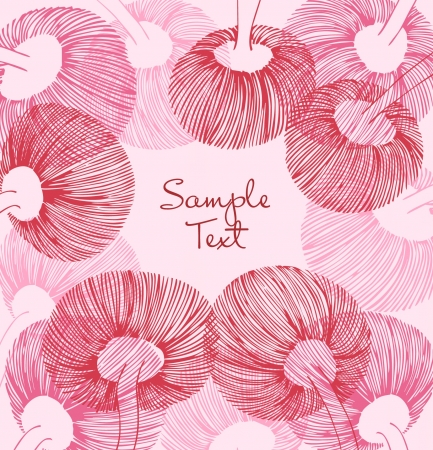 Red and rose vintage flower element. Can use for cards, arts, invitations  Vector