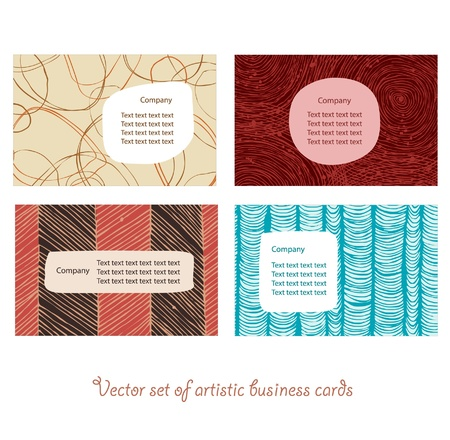 Business cards bright set  Style elements  Personal identity  Illustration