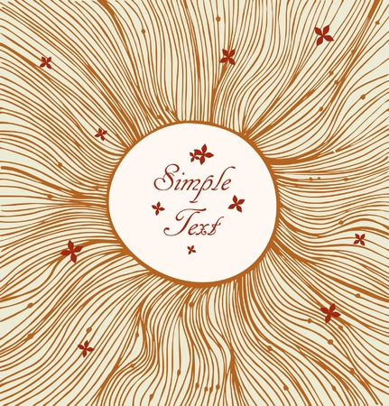 Sandy linear circle background  Vintage elements  Vector