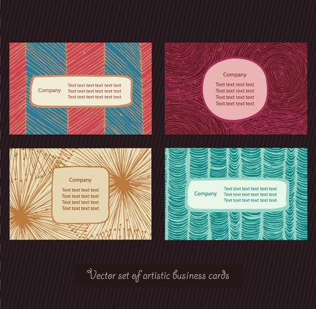 Business cards bright set  Style elements  Personal identity Vector