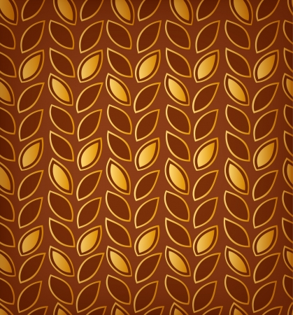 Golden floral pattern, Background with rows of leafs  Can use for wallpapers, web pages, cards, arts, surface texture, clothes ornaments  Vector