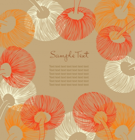 Sunny vintage flower backdrop with place for your text  Can use for cards, arts, invitations  Gorgeous summer flourish background  Vector
