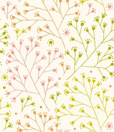 Kant land naadloos patroon Takken leuke sier sjabloon Landelijk florale achtergrond Rustiek stof textuur Stock Illustratie
