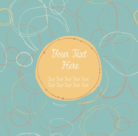Bright cute seamless banner with hand-drawn circles and place for text  Can use for arts, gifts, greeting cards, notebooks Stock Vector - 18371926