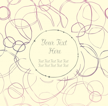 Light lace seamless banner with hand-drawn circles and place for text  Can use for arts, gifts, greeting cards  notebooks Stock Vector - 18371928