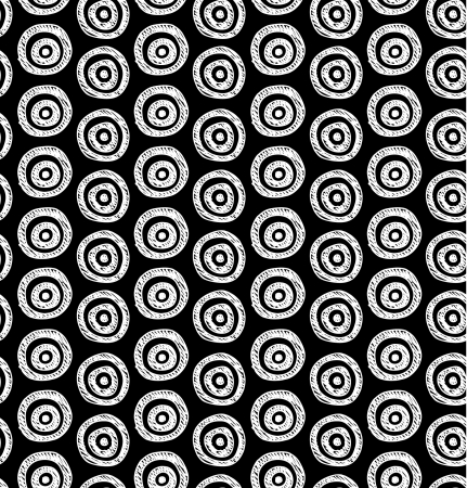 abstract background  Seamless black and white hand drawn circles pattern  Can be used for wallpaper, pattern fills, web page background, surface textures