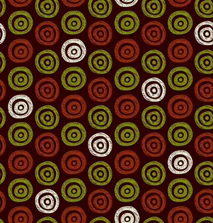african fabric: ornate abstract background  Seamless ethnic hand drawn circles pattern  Can be used for wallpaper, pattern fills, web page background, surface textures  Illustration