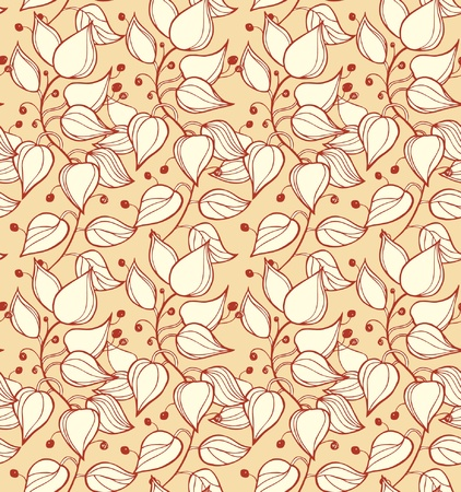 Branches seamless ornamental pattern  Decorative modern floral background  Beautiful ornate template with leafs for design and decoration Vector