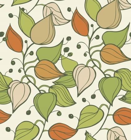 Takken naadloze textuur decoratieve moderne florale achtergrond patroon met bladeren Mooie sierlijke sjabloon voor ontwerp Stock Illustratie