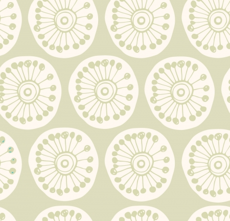 Bright rural seamless pattern  Fabric texture with decorative flowers  Background with circle ornamental texture Stock Vector - 18549814