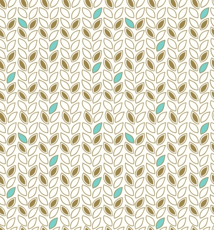 Modern floral pattern  Seamless background with decorative rows of leafs  Template for design wallpapers, web pages, cards, arts, surface textures, clothes ornaments Illustration