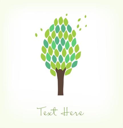 Geïsoleerde boom Gebladerte. Ecologie banner. Decoratieve kroon van de boom. Herbal grens Stockfoto - 18549810