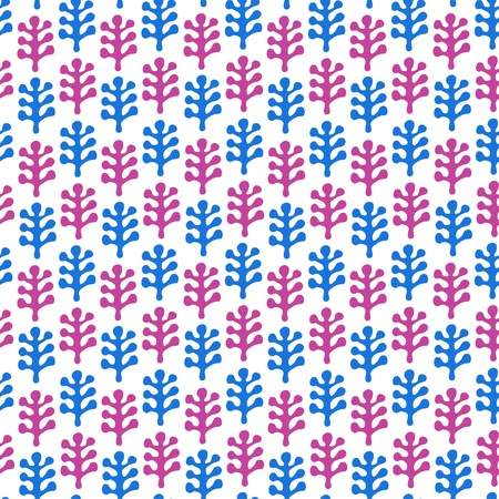 Floral childish drawn seamless texture  Pattern with decorative leafs  Doodle background
