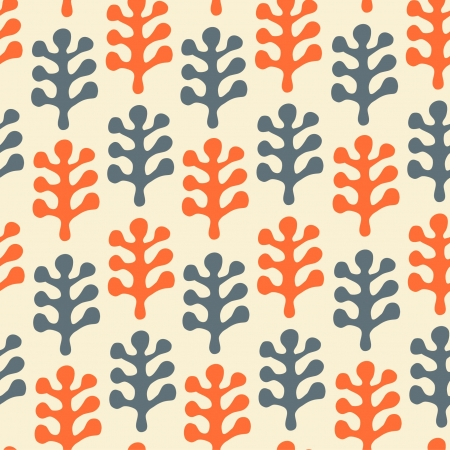 Floral decorative seamless texture  Pattern with leafs  Scandinavian stylish background