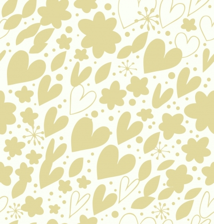 Abstract bright seamless pattern with many cute details  Decorative doodle background with hearts and flowers  Hand drawn damask texture for wallpapers, crafts, scrapbooking, textile Vector