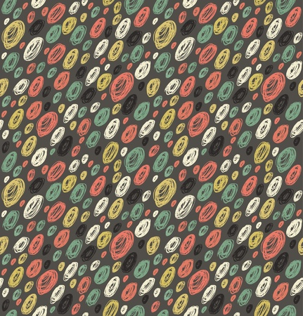 hank: Endless grungy texture  Seamless pattern with dots  Background for prints, crafts, textile, web pages