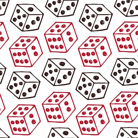 image of dice  Seamless pattern with bricks Vector