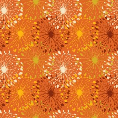 azahar: Naranja grunge patr�n radial. Fondo decorativo floral sin fisuras de artesan�as, textiles, fondos de escritorio, p�ginas web