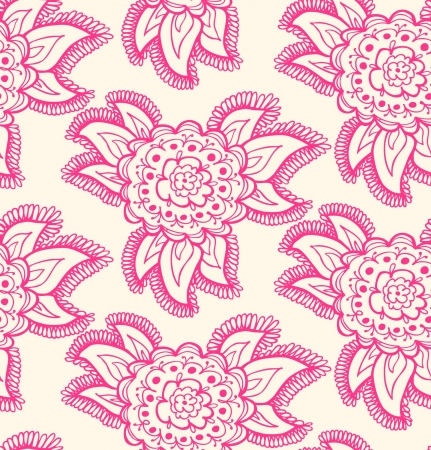 tissue texture: Floral decorative rose seamless texture  Background with ornate flowers  Cute endless ethnic pattern