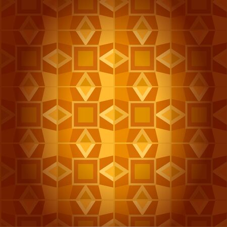 Geometrical golden damask seamless texture. Abstract traditional background Vector