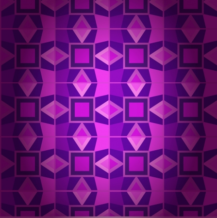 Geometrical violet damask seamless texture. Abstract traditional background. Retro pattern of geometric shapes. Colorful mosaic banner. Geometric ethnic backdrop. Retro triangle background Vector
