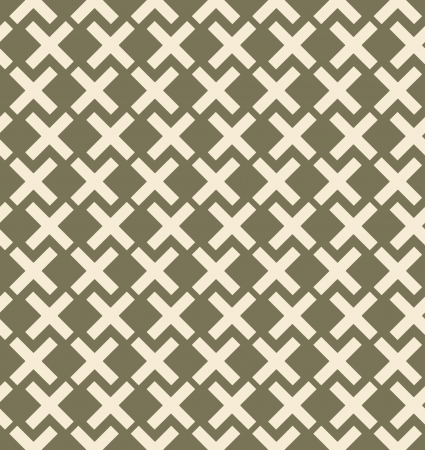criss cross: Seamless simple geometrical background. Checked grey pattern. Embroidered decorative lace backdrop Illustration