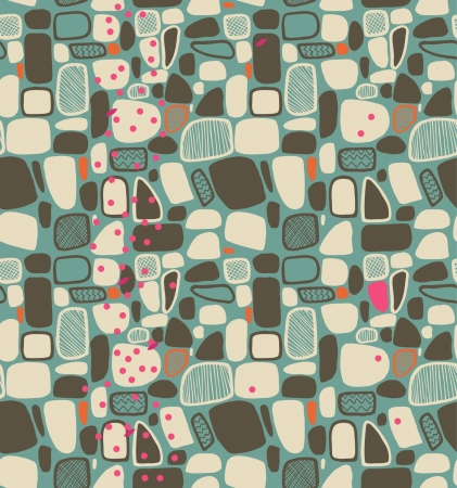 smithereens: Geometric abstract pattern  Decorative tiles  Seamless background with decorative texture Illustration
