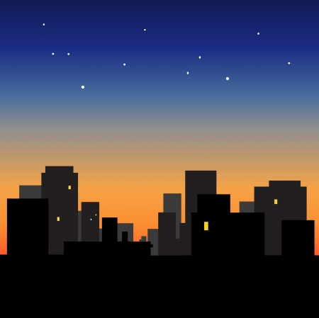 gloaming: Morning sky over the roofs  Sunrise  Urban landscape  Dawn  Daybreak  Sunset