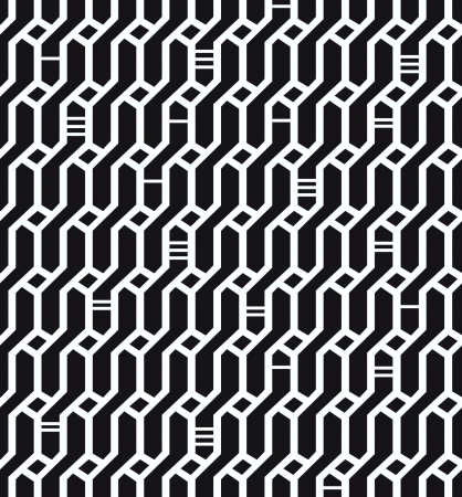 Seamless geometric black and white pattern  Network background  Wickerwork  Decorative endless texture for design textile, wrapping papers, packages, tiles Stock Vector - 19603414