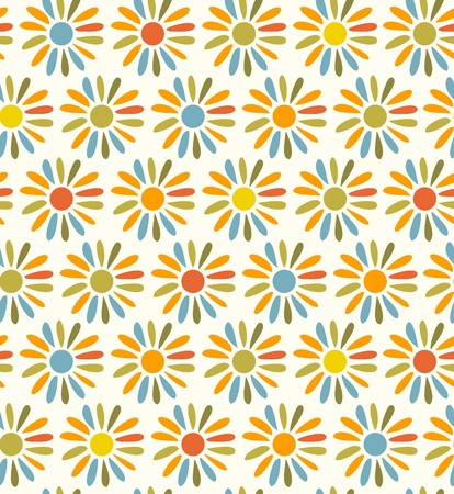 country side: Doodle bright decorative seamless fabric texture  Background with flowers  Vintage pattern