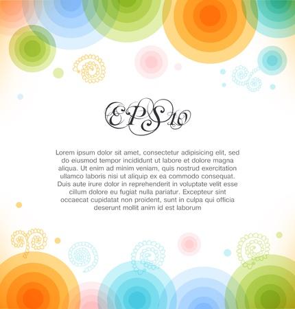 Vector mehrfarbigen Hintergrund mit Kreisen Shiny banner Web-Elemente für Präsentationen, Karten, Web-Seiten