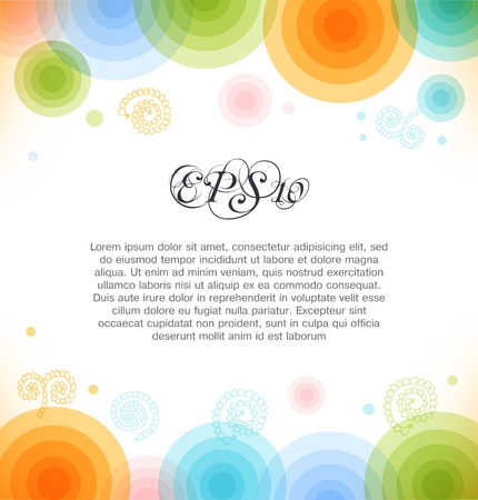 Vector multicolor background with circles  Shiny banner  Web elements for presentations, cards, web pages Stock Vector - 19792186